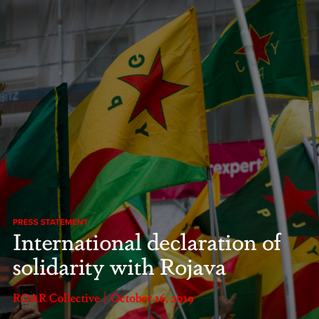 International declaration of solidarity with Rojava